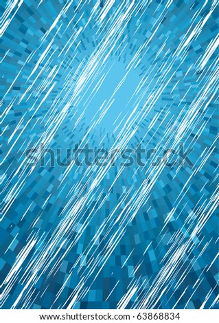 Vector Blue Rainy background - stock vector