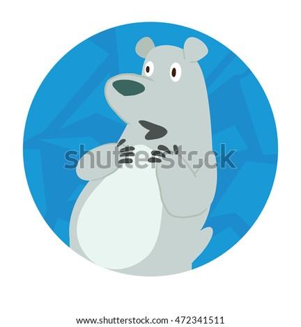 Vector Blue Round Ice Frame Cartoon Stock Vector 472341511 ...