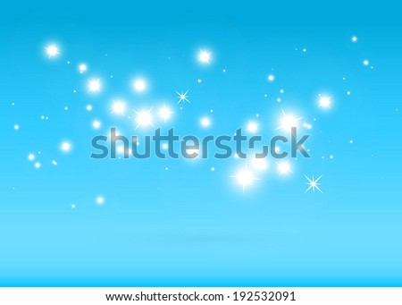 Vector blue star field in space  background design template - Virtual 3D  sparkling  background illustration - stock vector