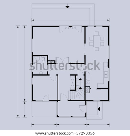 vector blueprint background - stock vector