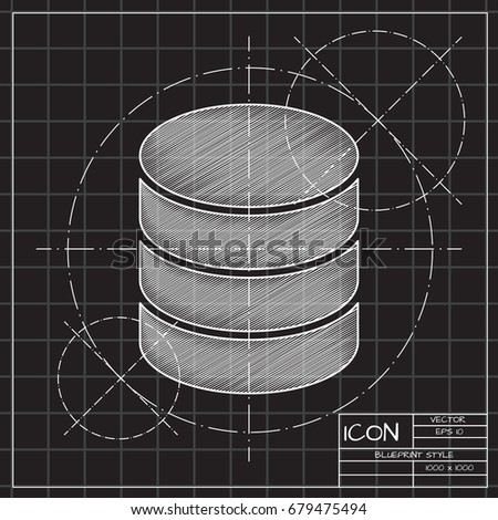 Vector blueprint database icon on engineer stock vector 679475494 vector blueprint database icon on engineer and architect background business collection malvernweather Choice Image