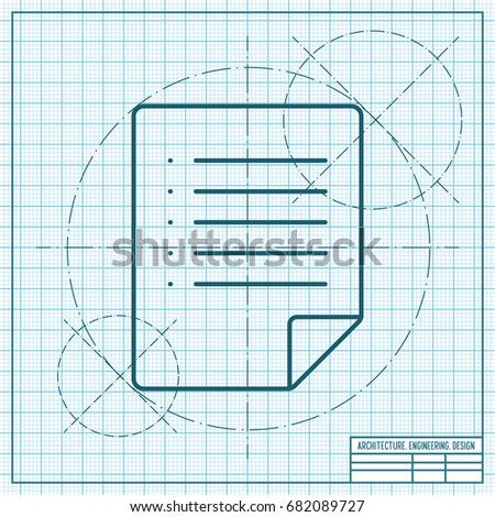Vector blueprint document icon on engineer stock photo photo vector blueprint document icon on engineer and architect background malvernweather Gallery