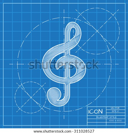 Vector blueprint music icon engineer architect stock vector vector blueprint music icon engineer and architect background malvernweather Image collections