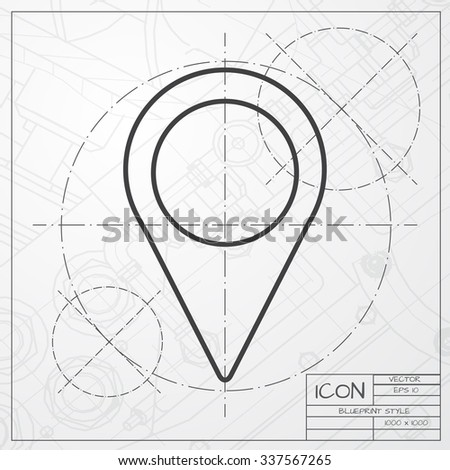 Vector blueprint spaceship logo vectores en stock 244668289 vector blueprint of navigation icon on engineer or architect background malvernweather Gallery