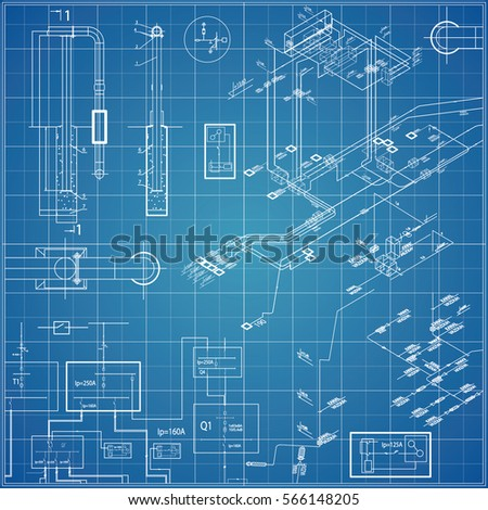 Electrical blueprint imgenes pagas y sin cargo y vectores en stock vector blueprint with electrical malvernweather Image collections