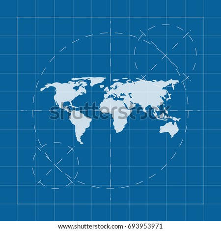 World map blueprint stock images royalty free images vectors vector blueprint world map on engineer and architect background malvernweather Image collections