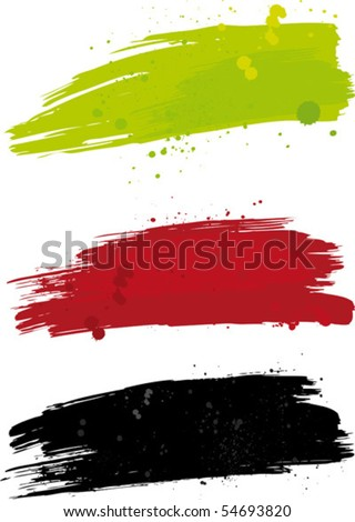 Vector blures with blobs. - stock vector