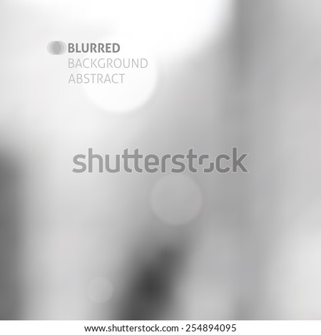 vector blurred abstract background with lights, gray color - stock vector