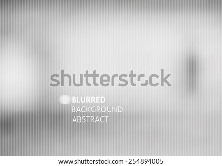 vector blurred abstract background with stripes, gray color - stock vector