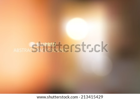 vector blurred abstract background with white lights - stock vector