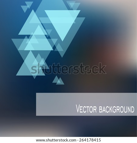 vector. blurred background with triangles. - stock vector