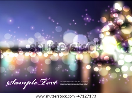 Vector Blurry Lights - stock vector