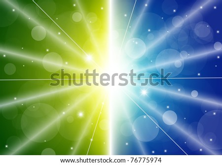 Vector Blurry summer view with - stock vector