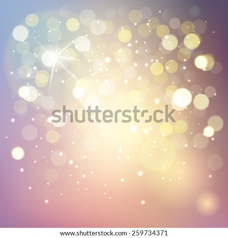 Vector bokeh background, abstract with defocused lights. - stock vector