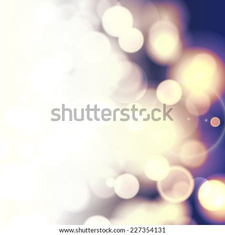 Vector bokeh light vintage background. - stock vector