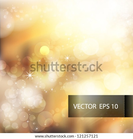 Vector bokeh template for business presentation with place for your text - stock vector