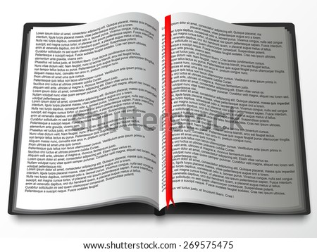 Vector book - stock vector