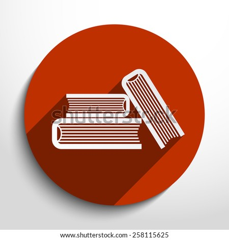 Vector book icon illustration background. - stock vector