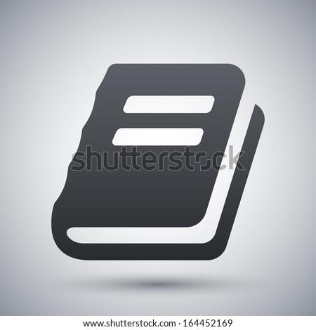 Vector book sign or icon - stock vector