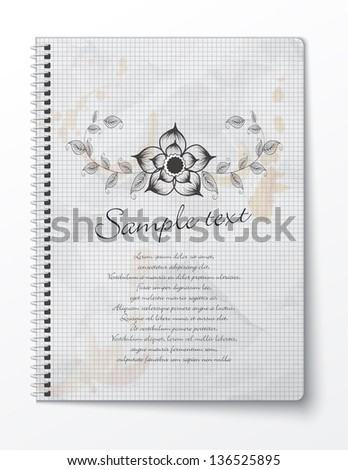 Vector booklet with floral design - stock vector