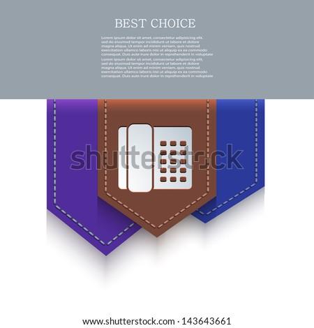Vector bookmark icon. Eps10 - stock vector