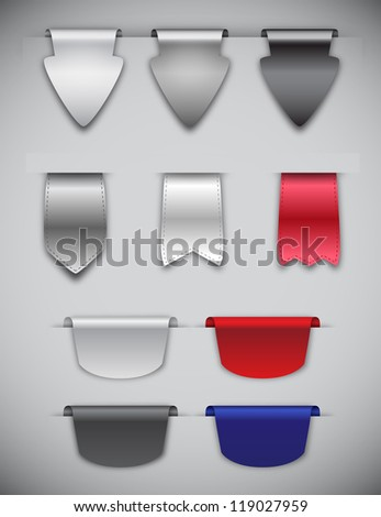 Vector Bookmarks - stock vector