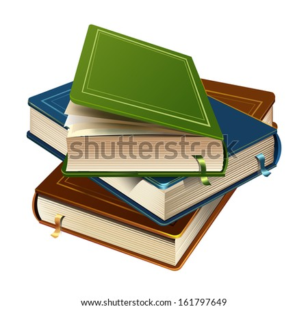 Vector books - stock vector