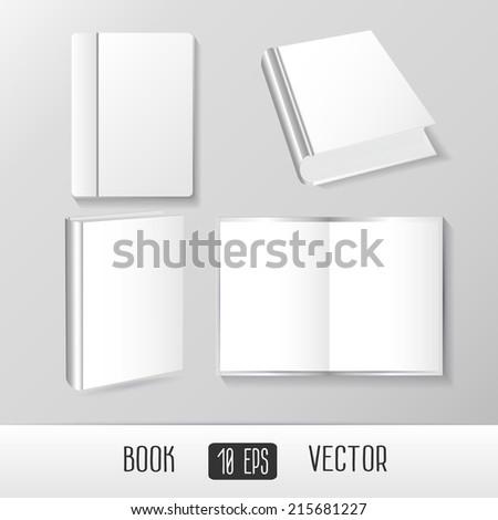 Vector Books Mockup Templates Blank Empty Stock Vector 215681227 ...