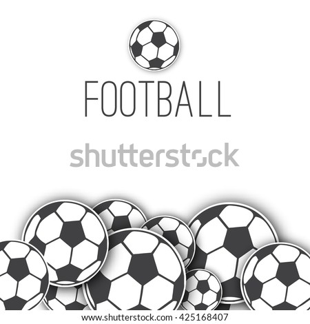 Vector Border Frame Soccer Balls Football Stock Vector 425168407 ...