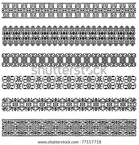 Vector Border Set. Easy to edit. Perfect for invitations or announcements. - stock vector