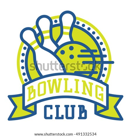 vector bowling logo emblem sport logo stock vector 2018 491332534 rh shutterstock com bowling logopedia bowling logo image