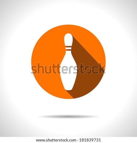 Vector bowling pin icon. Eps10 - stock vector