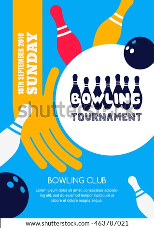 vector bowling tournament banner poster flyer stock vector 463787021 rh shutterstock com vector post driver vector poster templates
