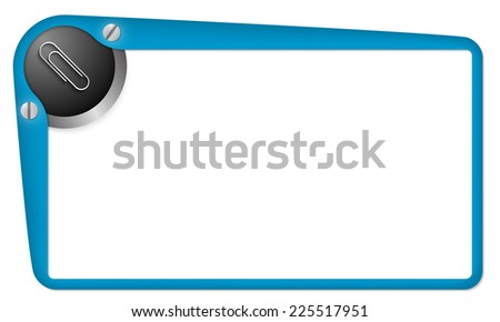 vector box for text with paper clip - stock vector