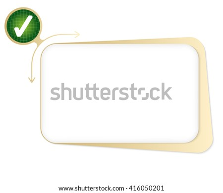 Vector box to fill your text and check box - stock vector