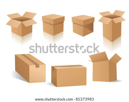 vector boxes - stock vector