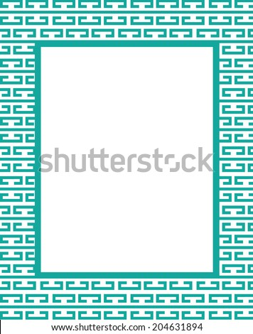 rectangle bracket frame. Vector Bracket Pattern Frame And Invitation Set Rectangle