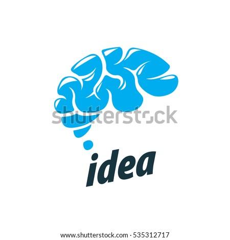 vector brain logo stock vector 535312717 - shutterstock