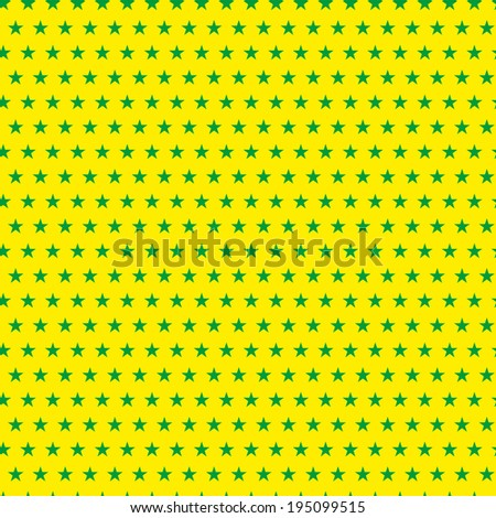 Vector - Brazil 2014 Seamless Green Yellow Background - stock vector