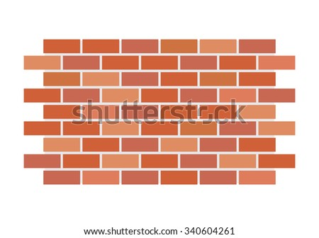 Vector brick wall - stock vector