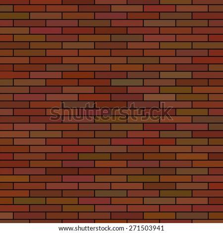 Vector Brick Wall Background. Red Brick Texture Brick Pattern. - stock vector