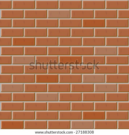 Vector Brick Wall Made Of Red Bricks Seamless Texture