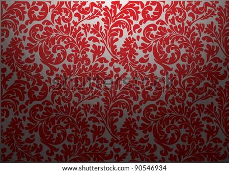 vector - bright vintage wallpaper - stock vector