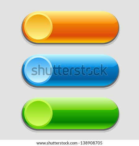 Vector bright web buttons - stock vector