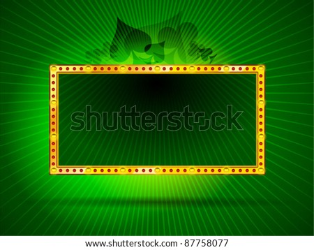 Vector Brightly Board Framed With Shining LED Lamps - stock vector