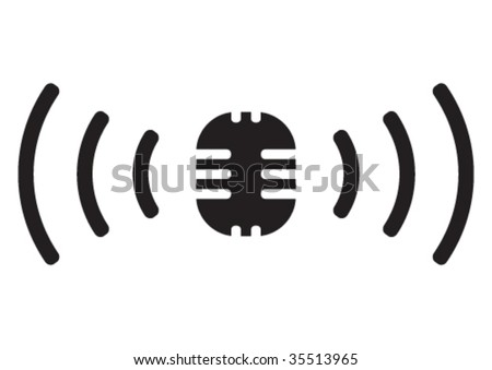 Vector broadcasting symbol. - stock vector
