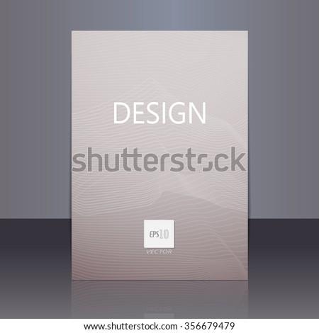 Vector brochure - booklet cover design templates collection A4 size. - stock vector