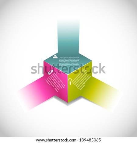 Vector brochure, cover, diagram, web design, inforgraphic tamplate - stock vector