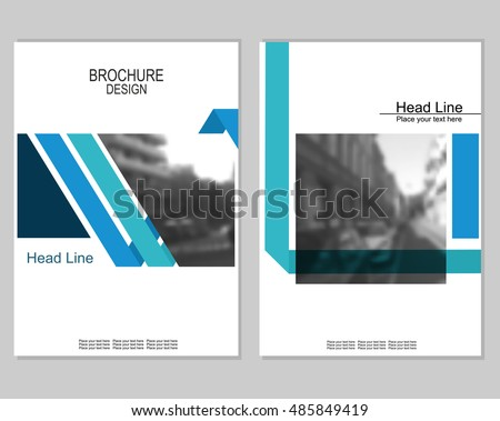 Cover page design stock images royalty free images for Brochure cover design