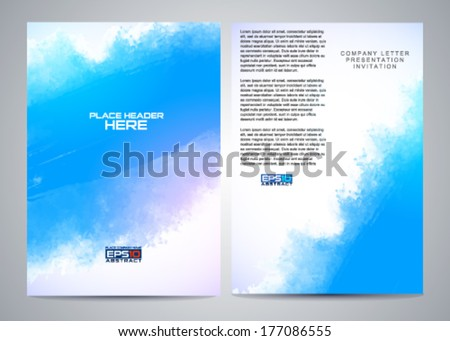 vector brochure design for your business - stock vector